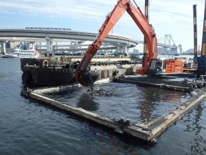 京浜運河(芝浦ふ頭)